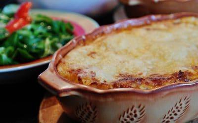 American Lasagna & Salad Recipe